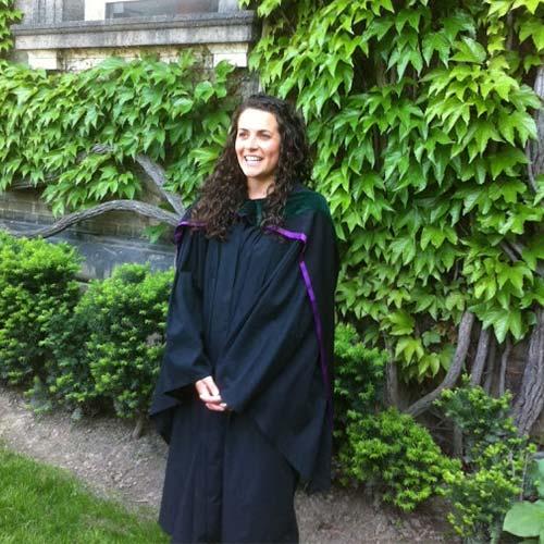 Dr Chelsea Corrigan in her graduation gown