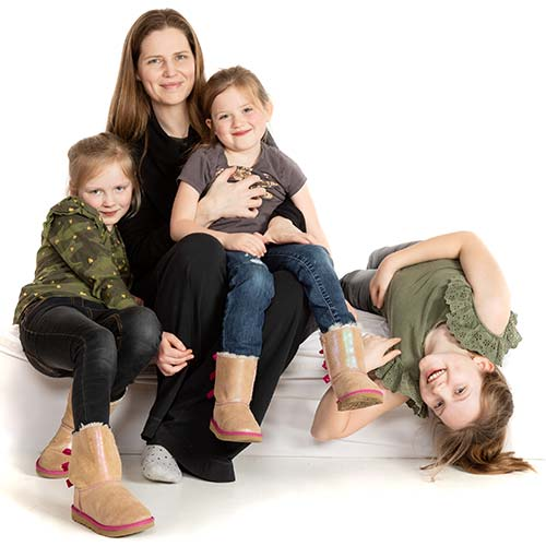 Dr Kealy Mann with her three children